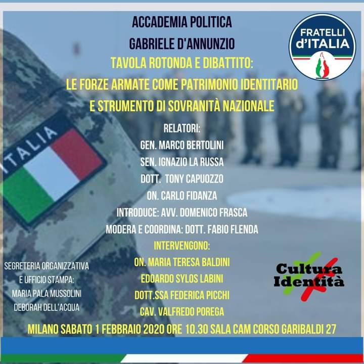 Milano 1 febbraio 2020 tavola rotonda